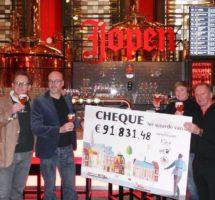Geniet & Geef en Jopen Bier halen ruim €91.000,- op voor KiKa!
